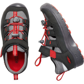 Keen Hikeport Vent Shoes Kids Raven/Firey Red